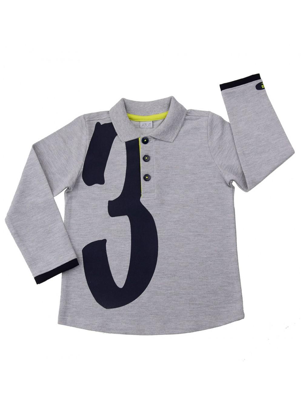 """Блузка с дълъг ръкав """"Три"""" (2 г.)"""