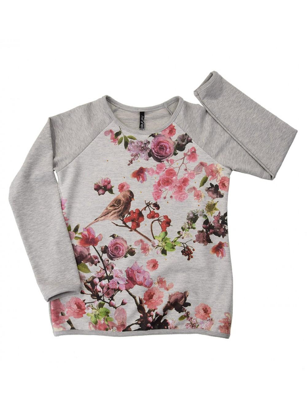 """Блуза с дълъг ръкав """"Цветна прелест""""(8-10 г.)"""