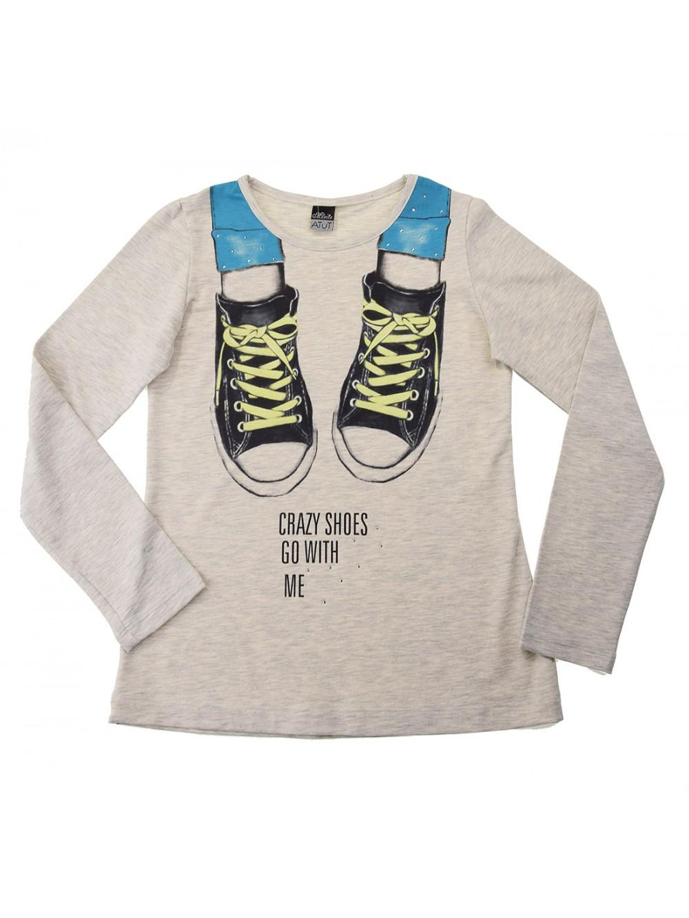 """Блуза с дълъг ръкав Crazy shoes"""" (10 г.)"""