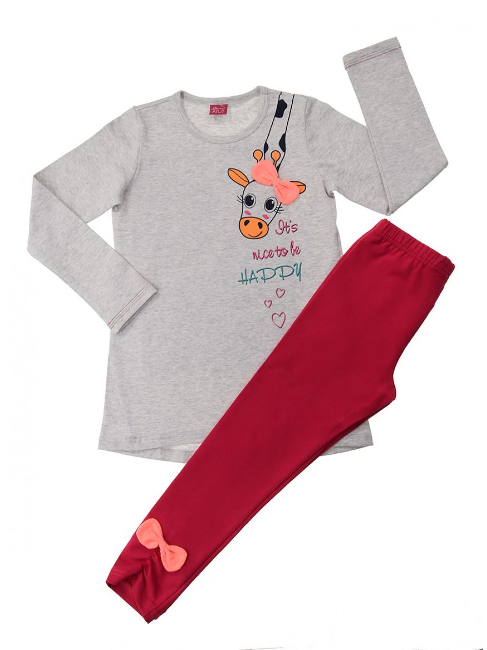 "Чаровен комплект за момиче ""Жирафче"", 2-6 год."