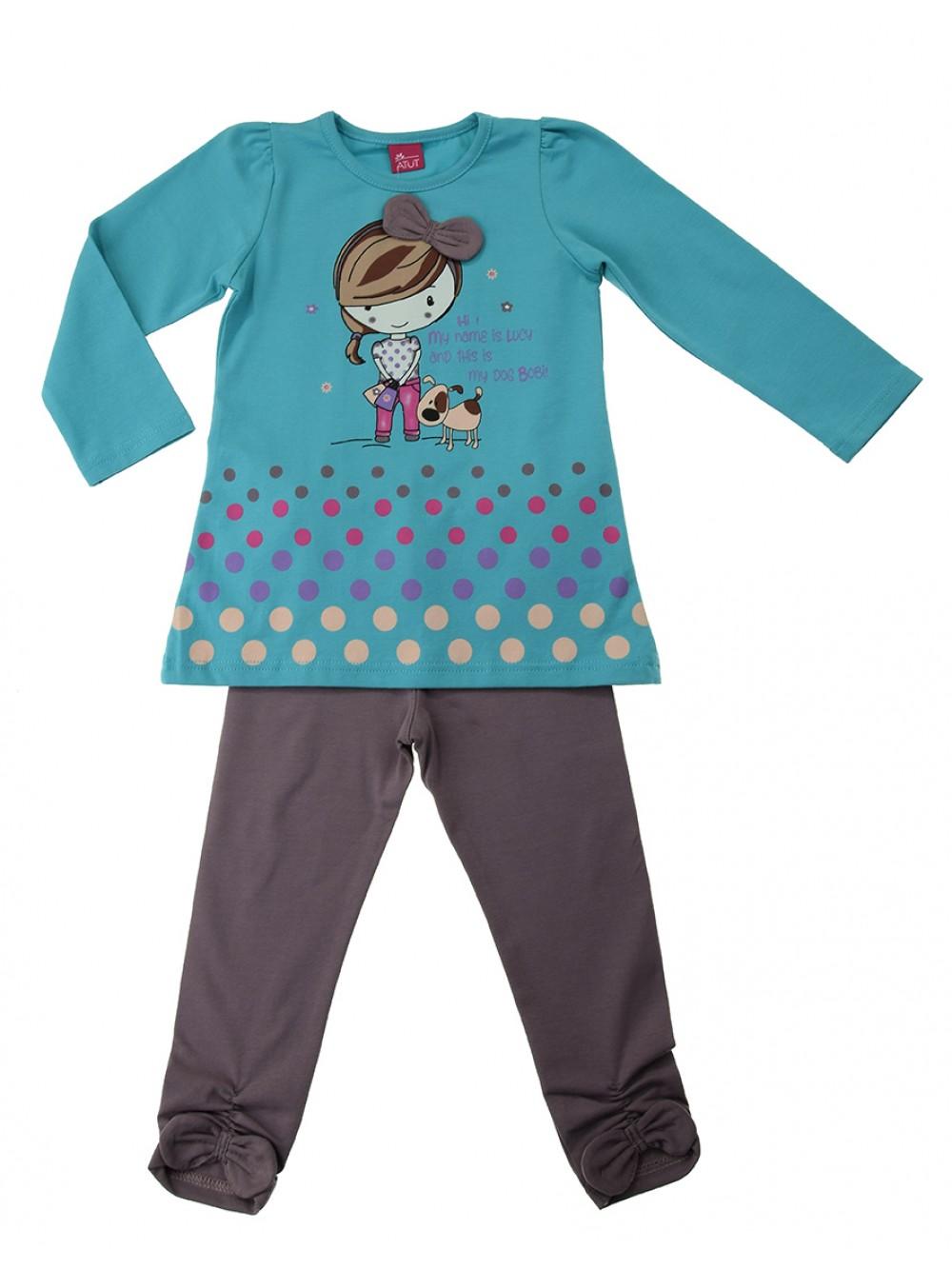 """Чаровен комплект за момиче """"Lucy i Bobi"""", 2-3 год."""
