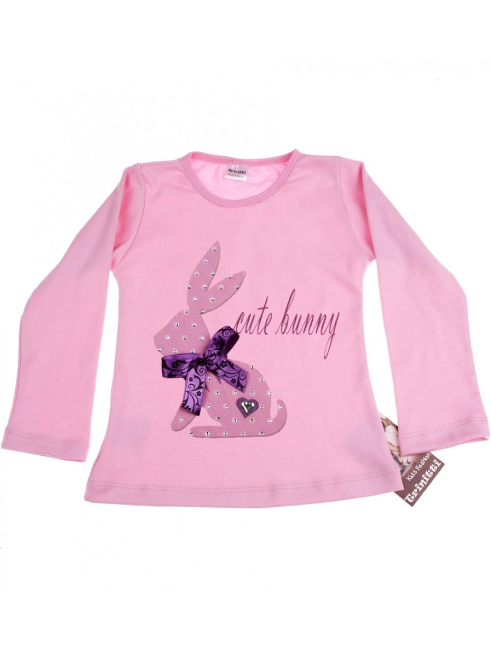 """Блуза с дълъг ръкав """"Зайче"""" (1-2г.)"""