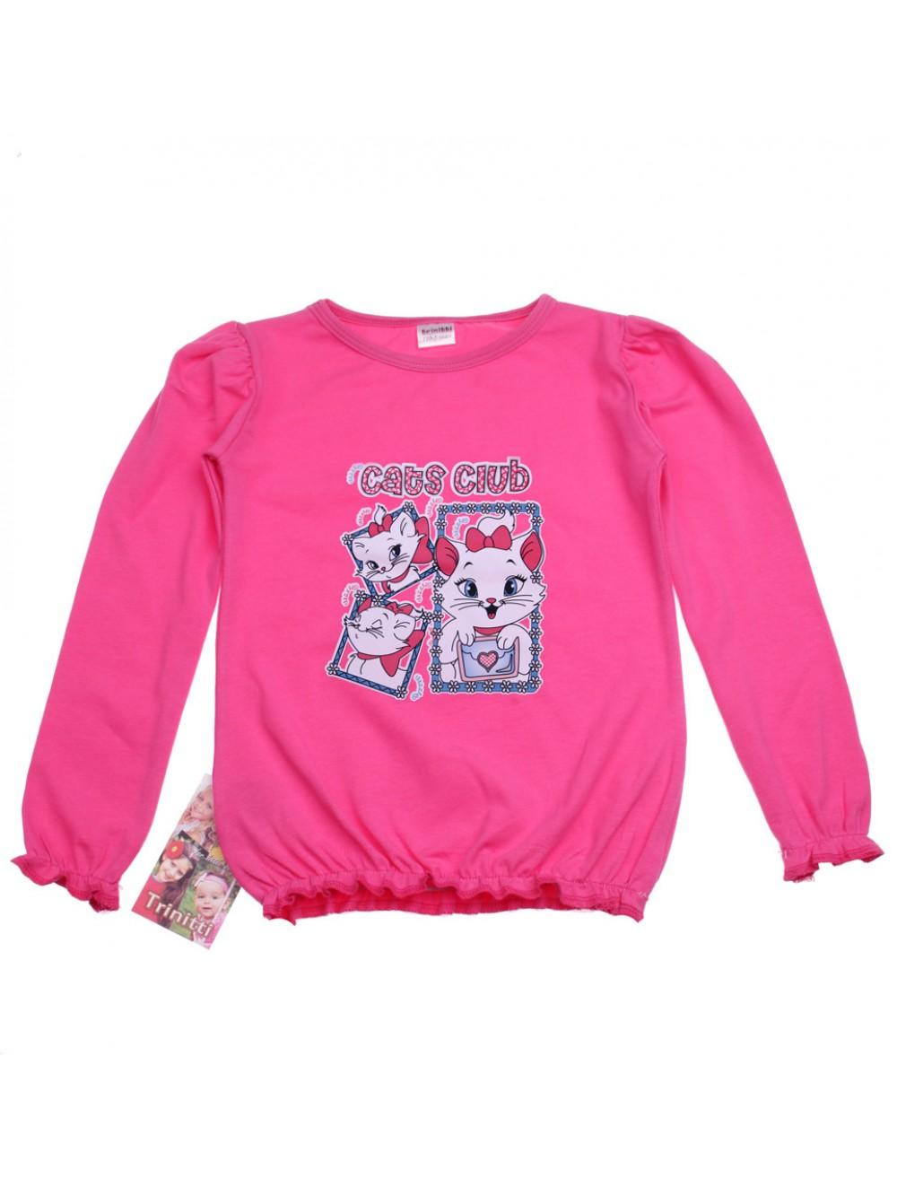 """Блуза с дълъг ръкав """"Cats club"""" (5-8 г.)"""